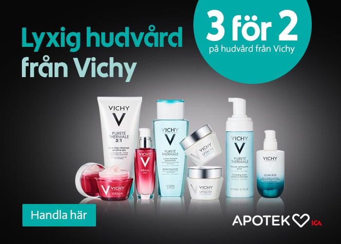 3 för 2 på lyxig hudvård Vichy