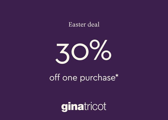 EASTER DEAL: 30% på ett köp