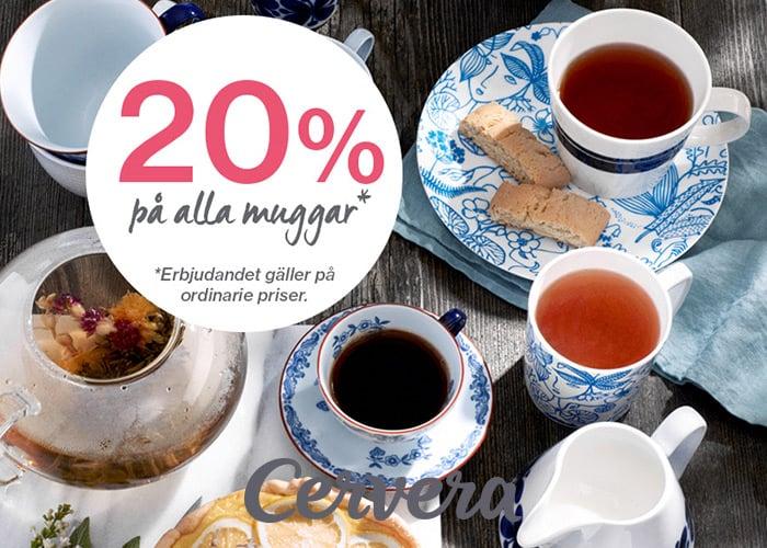 Få 20% rabatt*!