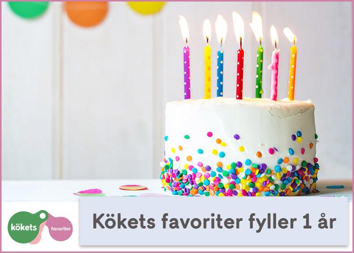 Kökets Favoriter firar 1 år!