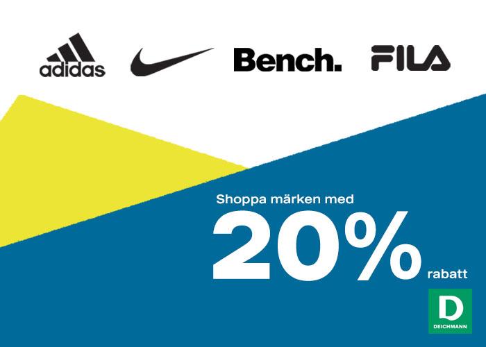 20% rabatt på populära märken