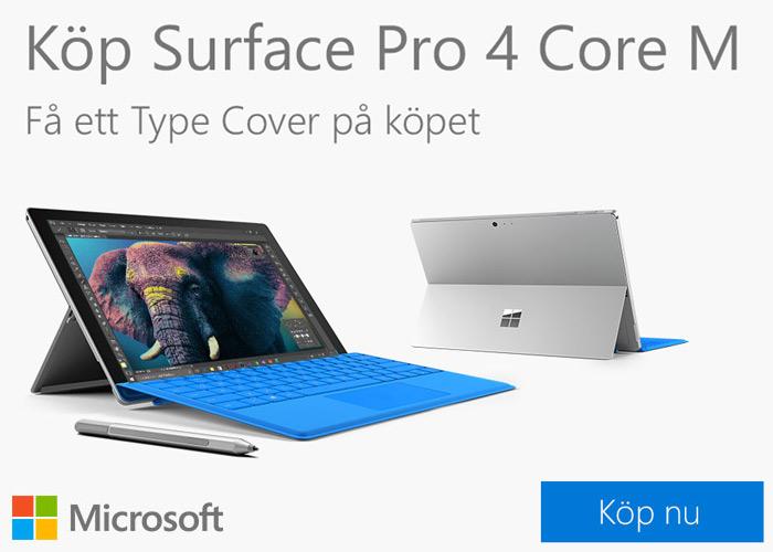 Få ett Type Cover på köpet!
