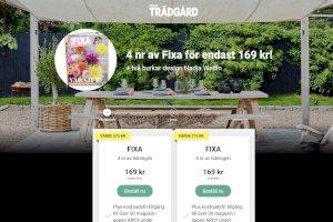 Allt om Trädgård FIXA Prenumeration